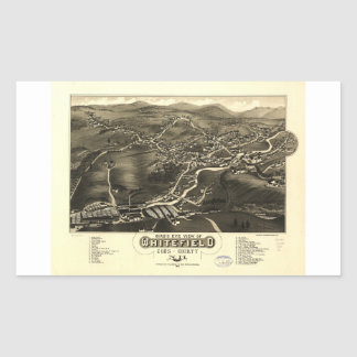 Whitefield, Coos County, New Hampshire (1883) Rechteckiger Aufkleber