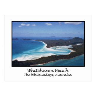 Whitehaven Strand, das Whitsundays, Australien Postkarte