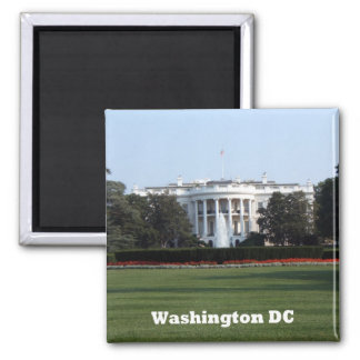 Whitehouse Washington DC-Magnet Quadratischer Magnet