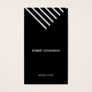 Whiter Black stripes minimalist geometric elegant Visitenkarte