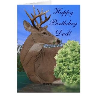 Whitetail-Dollar-Rotwild-Geburtstag Karte