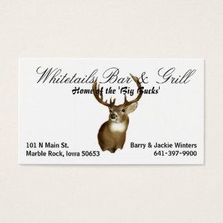 Whitetails-Bar u. Grill Visitenkarte