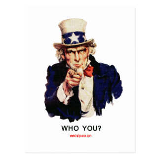 WHO_YOU_Uncle_Sam Postkarte