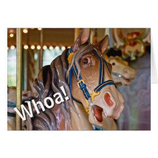 Whoa! Schauen Sie, wer 70 Karussell-Pferdealles Karte