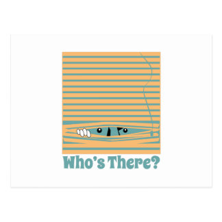 Whos dort? postkarte