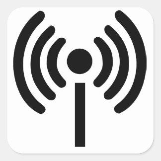 Wi-FI-Symbol Quadratischer Aufkleber