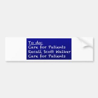 WI-Krankenschwester-zu-tun Sie Autoaufkleber