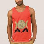 Wicca heidnische dreifache Göttinpentagram-Katzen Shirts