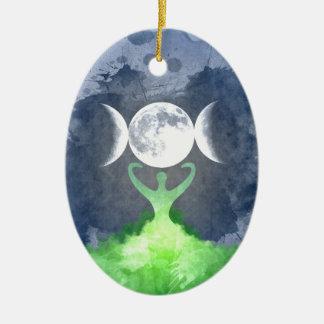 Wiccan Mutter Erden-Göttin-Mond Keramik Ornament