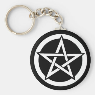 Wiccan Pentagram Samhain Eve Halloween Schlüsselanhänger