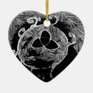 wiccan Symbol für die Hexen Keramik Ornament