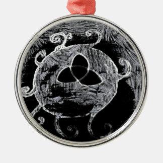 wiccan Symbol für die Hexen Silbernes Ornament