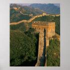Wicklung der großen Wand durch den Berg, China Poster