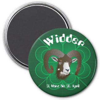 Widder 21. März bis 20. April Magnet Runder Magnet 7,6 Cm