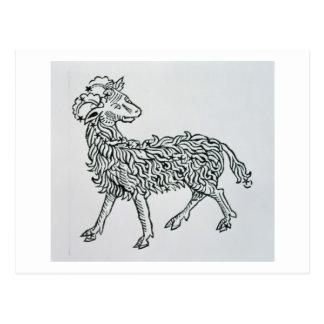 Widder (das RAM) eine Illustration vom 'Poeticon Postkarte