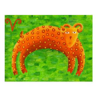 Widder-Horoskop-Tierkreis-Stern-Zeichen Postkarte