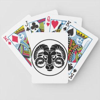 Widder-Horoskop-Tierkreis-Zeichen Bicycle Spielkarten