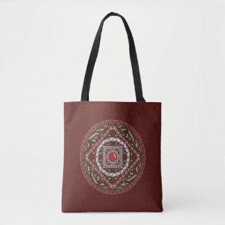 Widder-Mandala-ganz vorbei - Druck-Tasche Tasche