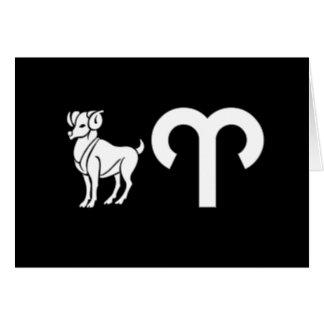 Widder mit Symbol Karte