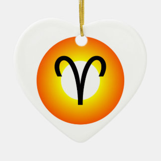 WIDDER-SYMBOL KERAMIK Herz-Ornament