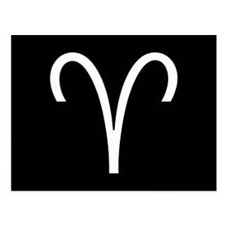 Widder-Symbol Postkarte