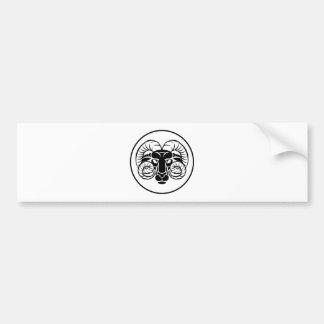 Widder-Tierkreis-Astrologie-RAM-Zeichen Autoaufkleber