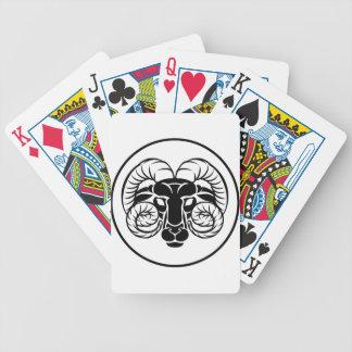 Widder-Tierkreis-Astrologie-RAM-Zeichen Bicycle Spielkarten
