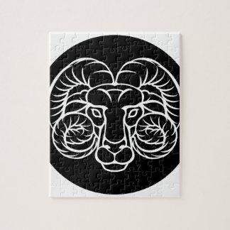 Widder-Tierkreis-Horoskop-Zeichen Puzzle