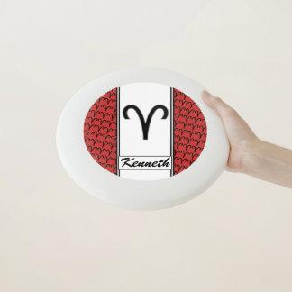 Widder-Tierkreis-Symbol-Standard durch Kenneth Wham-O Frisbee