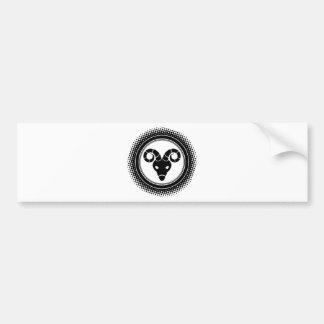 Widder-Tierkreis-Zeichen Autoaufkleber