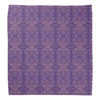 Widergespiegelte lila Paisley-Natur Kopftuch