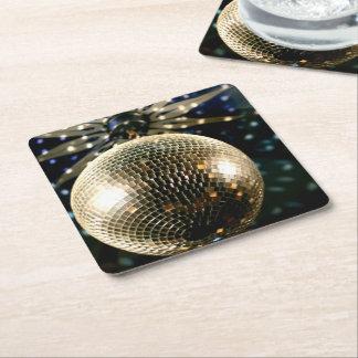 Widergespiegelter Disco-Ball 3 Rechteckiger Pappuntersetzer