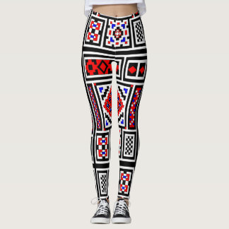 Widergespiegeltes Mosaik Leggings