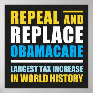 Widerrufen Sie und ersetzen Sie Obamacare Poster
