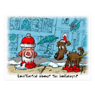 Widersprochen über die Feiertage? Postkarte