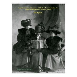 Widerstand-Damen-Postkarte Postkarte