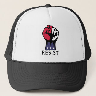 Widerstand-Faust-Kampf-politische Korruption Truckerkappe
