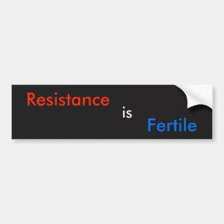 Widerstand ist fruchtbar autoaufkleber