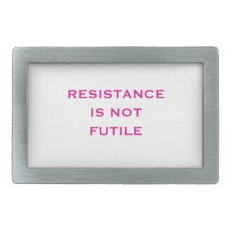Widerstand ist NICHT vergeblich Rechteckige Gürtelschnallen