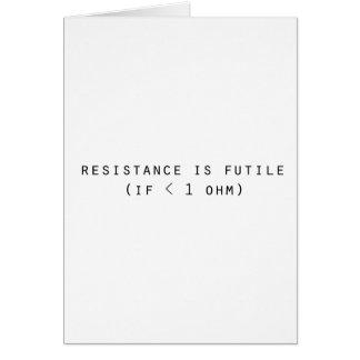 Widerstand ist vergeblich karte