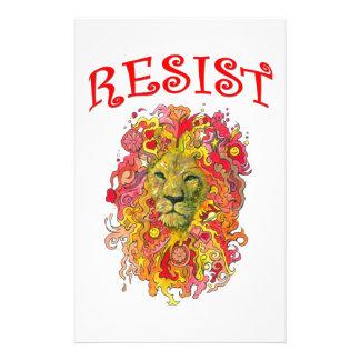 Widerstand-Löwe Briefpapier