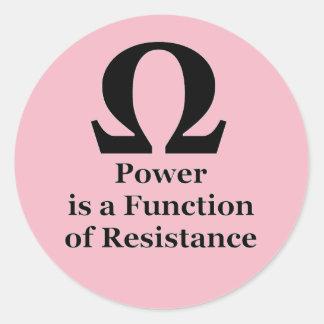 Widerstand → Power-kleiner runder Aufkleber