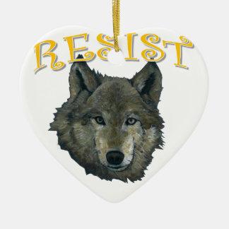 Widerstand-Wolf Keramik Ornament