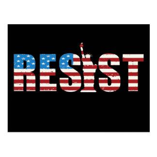 Widerstehen Sie AntiTrumpf-Widerstand fortbestehen Postkarte
