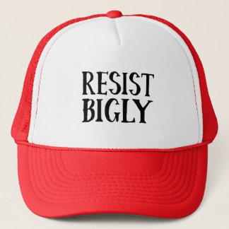 Widerstehen Sie Bigly AntiTrumpf-Widerstand-Kleid Truckerkappe
