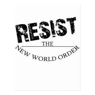 Widerstehen Sie der neuen Weltordnung Postkarte