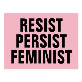 Widerstehen Sie fortbestehen feministisches Postkarte