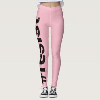 Widerstehen Sie rosa Gamaschen Leggings