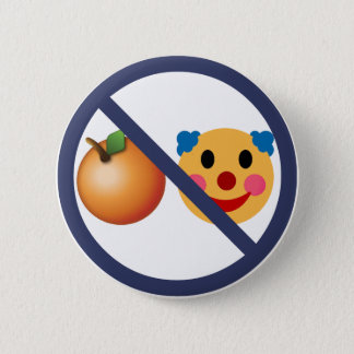 Widerstehen Sie Trumpf (orange Clown) Runder Button 5,7 Cm