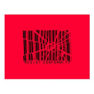 Widerstehen Sie Übereinstimmung Postkarte